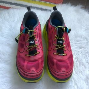 Hoka running shoes size 8.5 pink